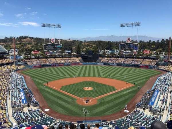 Dodger Stadium, sección: 1RS, fila: L, asiento: 7
