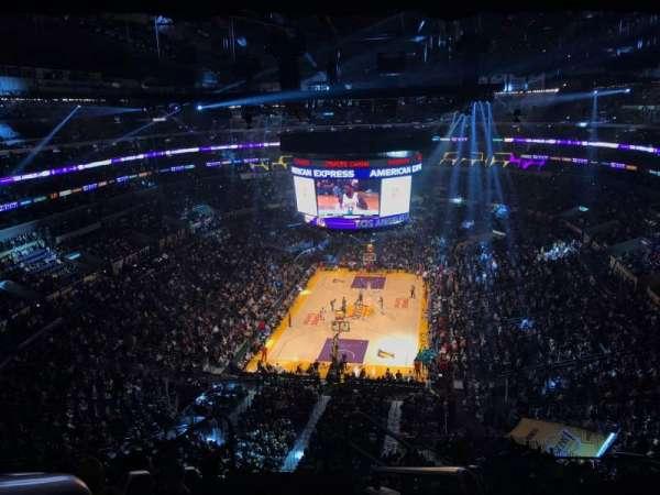 Staples Center, sección: 308, fila: 7, asiento: 26