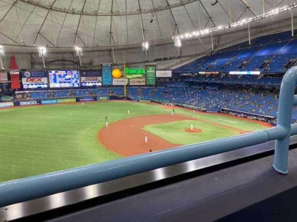 Tropicana Field, sección: 317, fila: A, asiento: 22