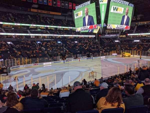 Bridgestone Arena, sección: 103, fila: L, asiento: 9