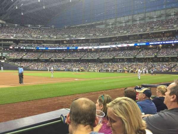 Miller Park, sección: 124, fila: 3, asiento: 11