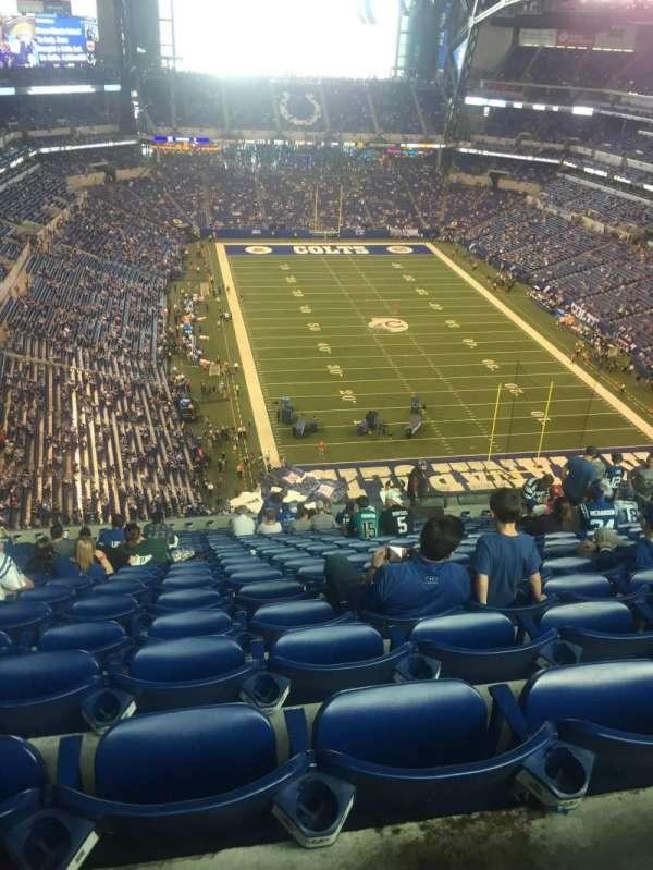 Lucas Oil Stadium, sección: 629, fila: 20, asiento: 15