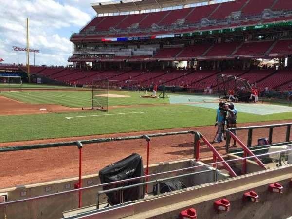 Great American Ball Park, sección: 115, fila: H, asiento: 14