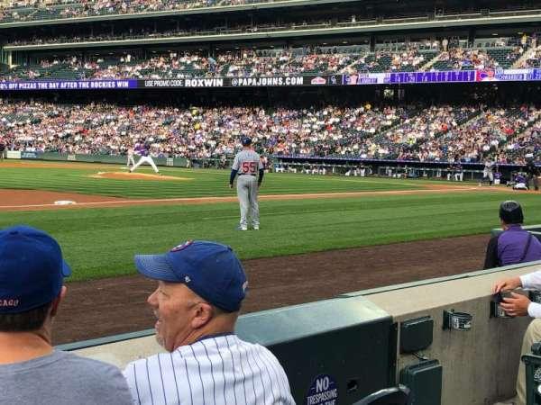 Coors Field, sección: 141, fila: 3, asiento: 5