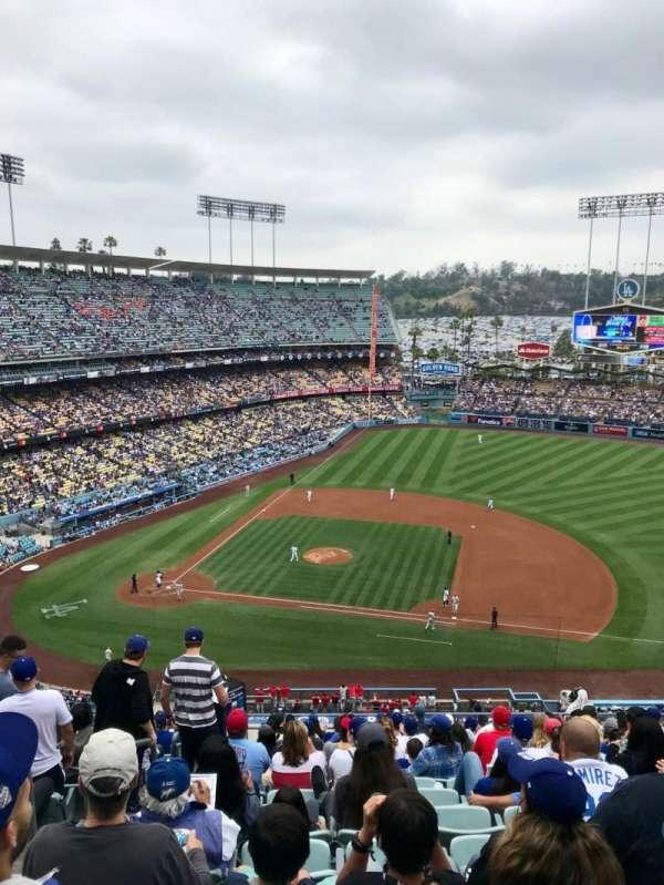 Dodger Stadium, sección: 20RS, fila: S, asiento: 2