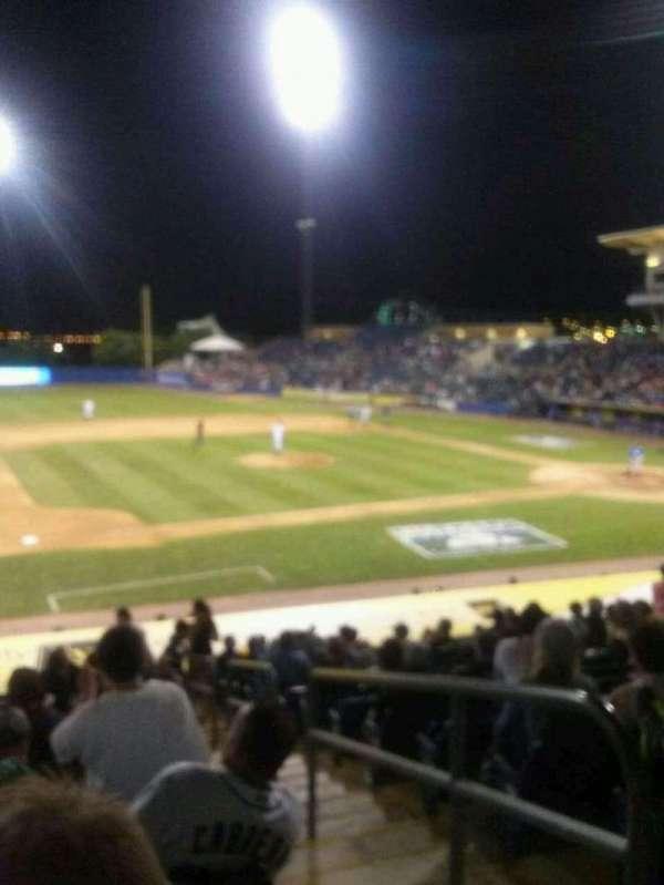 Richmond County Bank Ballpark, sección: 5, fila: P, asiento: 3