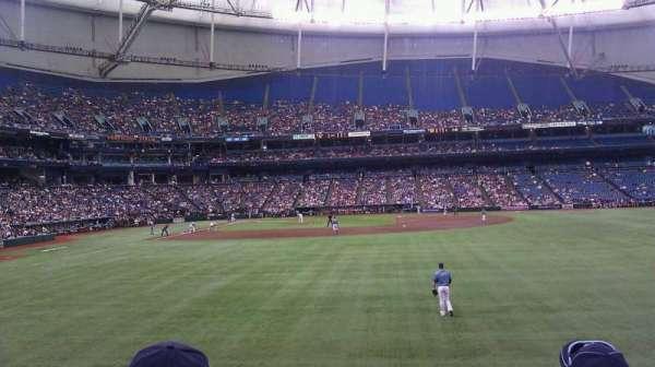 Tropicana Field, sección: 144, fila: W, asiento: 12