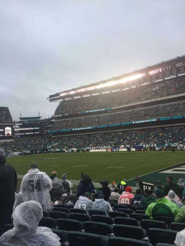 Lincoln Financial Field, sección: 106, fila: 15, asiento: 8