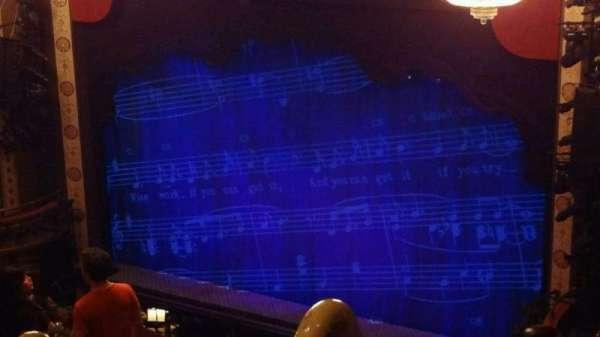 Imperial Theatre, sección: Rear Mezzanine 1, fila: G, asiento: 2