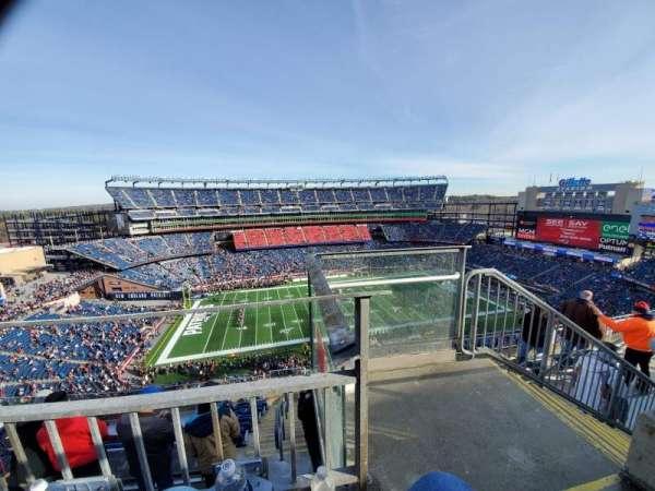 Gillette Stadium, sección: 333, fila: 8, asiento: 1
