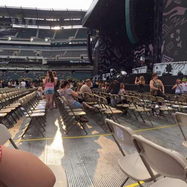 Lincoln Financial Field, sección: F6, fila: 7, asiento: 4