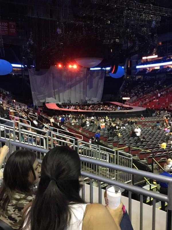 Toyota Center, sección: 116, fila: 10, asiento: 9