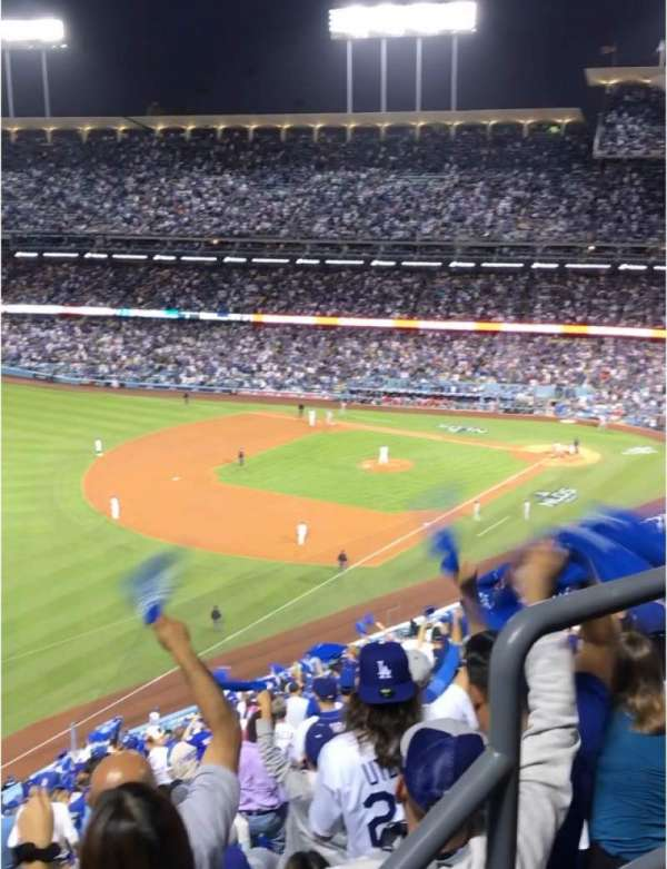 Dodger Stadium, sección: 45RS, fila: AA, asiento: 3