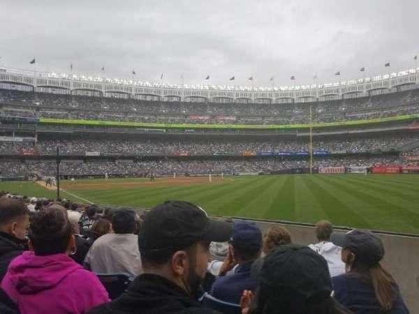 Yankee Stadium, sección: 109, fila: 7, asiento: 1