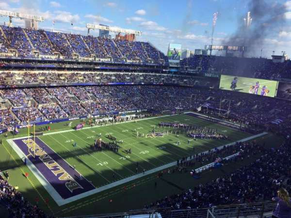 M&T Bank Stadium, sección: 533, fila: 10