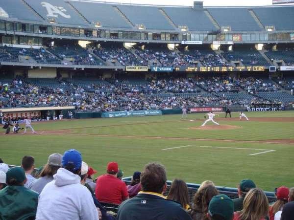 Oakland Coliseum, sección: 110, fila: 11, asiento: 13