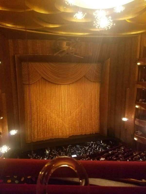 Metropolitan Opera House - Lincoln Center, sección: Balcony, fila: A, asiento: 3