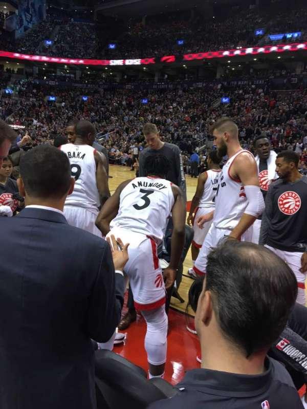 Scotiabank Arena, sección: CRTN, fila: B, asiento: 4