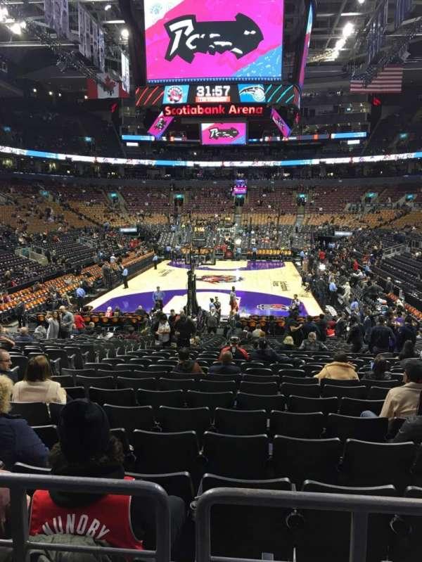 Scotiabank Arena, sección: 102, fila: 18, asiento: 14