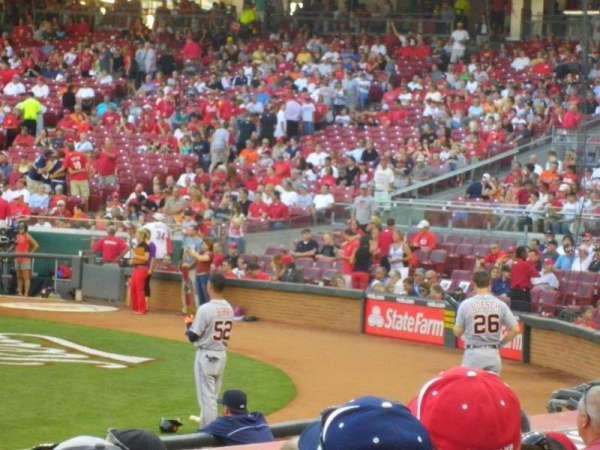 Great American Ball Park, sección: 116, fila: N