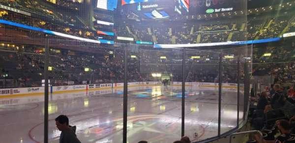 Nationwide Arena, sección: 107, fila: F, asiento: 8
