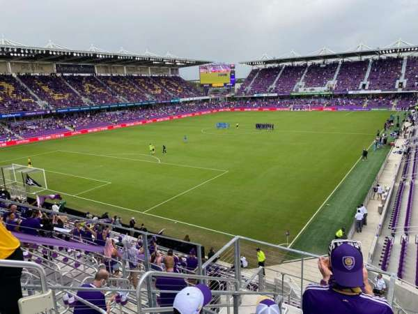 Exploria Stadium, sección: 122, fila: H, asiento: 21
