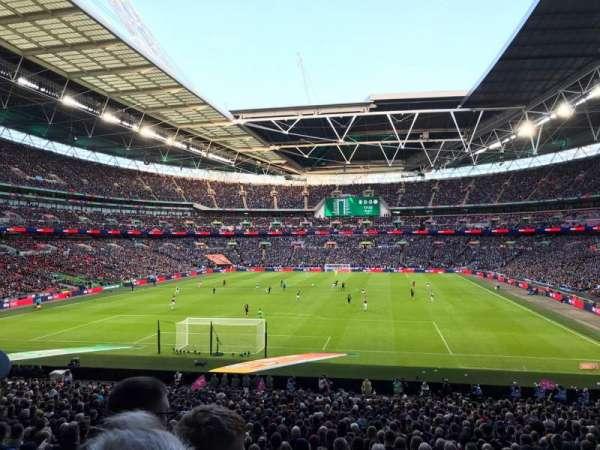 Wembley Stadium, sección: 132, fila: 34, asiento: 289