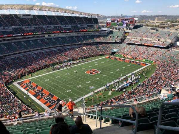 Paul Brown Stadium, sección: 347, fila: 24, asiento: 1