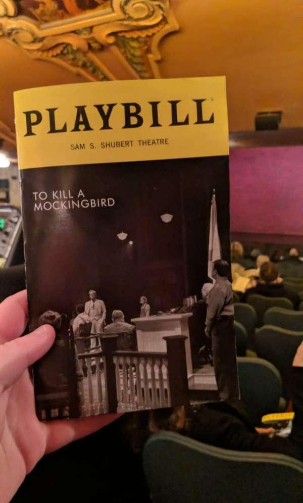Shubert Theatre, sección: Standing Room, asiento: 105