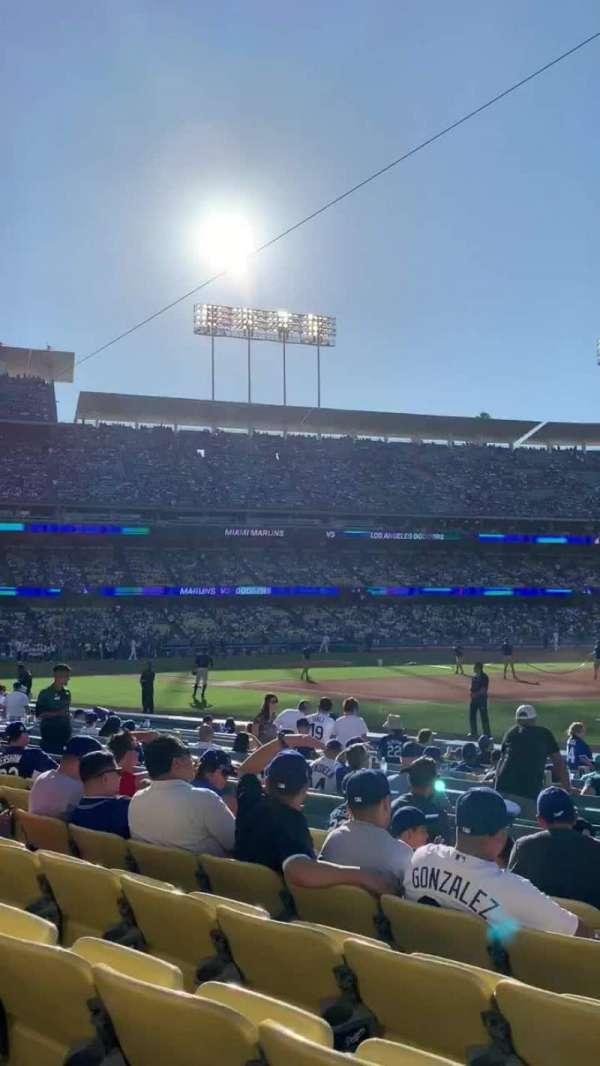 Dodger Stadium, sección: Infield box 36, fila: G, asiento: 1
