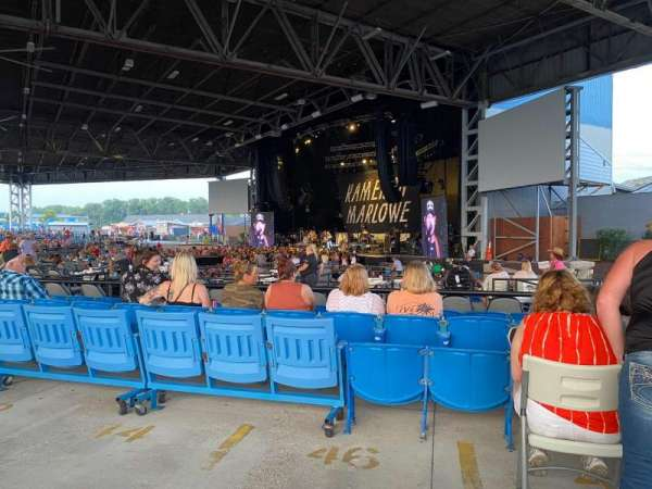 Hollywood Casino Amphitheatre (Maryland Heights), sección: Upper Right, fila: AA, asiento: 28