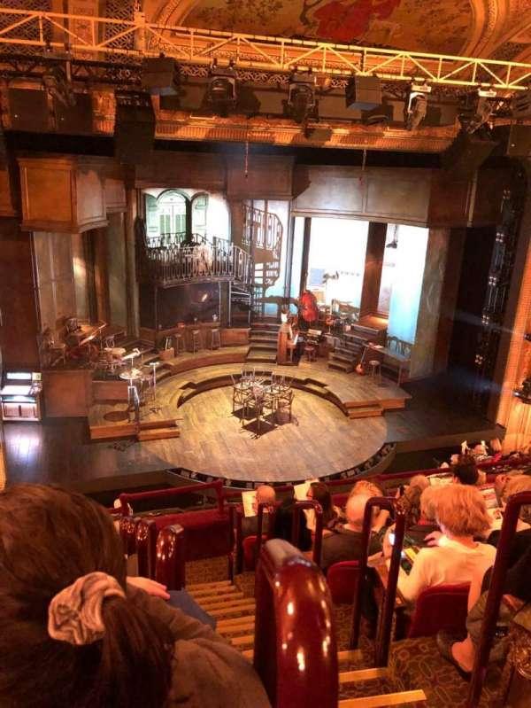 Walter Kerr Theatre, sección: Mezz, fila: G, asiento: 1