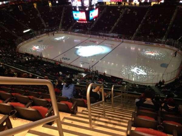 Gila River Arena, sección: 227, fila: J, asiento: 1