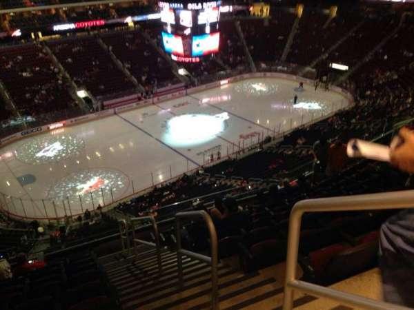 Gila River Arena, sección: 219, fila: J, asiento: 1