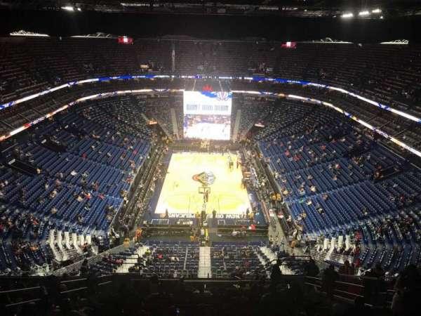 Smoothie King Center, sección: 324, fila: 18, asiento: 7