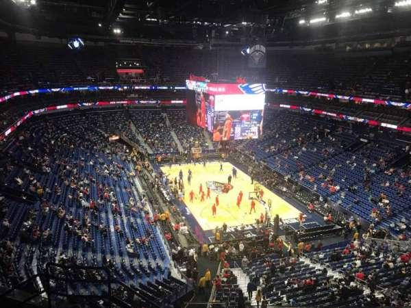 Smoothie King Center, sección: 310, fila: 8, asiento: 15