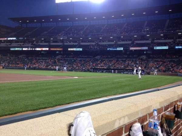 Oriole Park at Camden Yards, sección: 56, fila: 1, asiento: 10