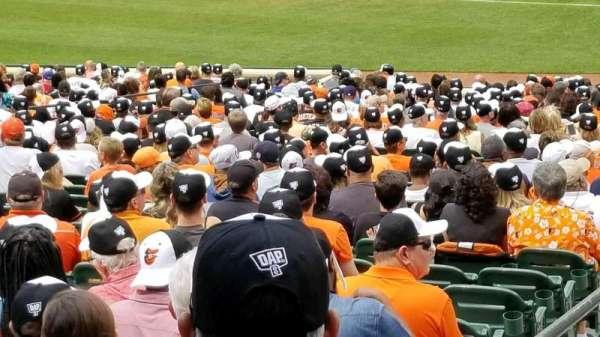 Oriole Park at Camden Yards, sección: 13, fila: 1, asiento: 16