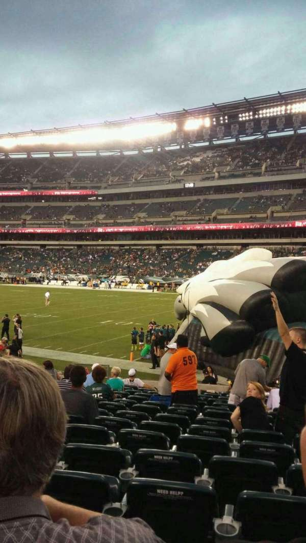 Lincoln Financial Field, sección: 106, fila: 15