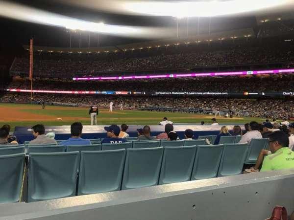 Dodger Stadium, sección: 25FD, fila: B, asiento: 8