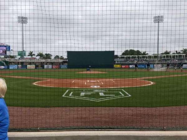Hammond Stadium at CenturyLink Sports Complex, sección: 107, fila: 1, asiento: 6