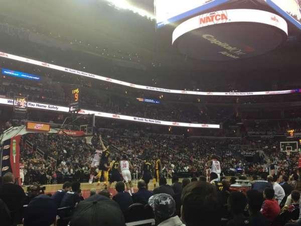 Capital One Arena, sección: 109, fila: A, asiento: 4