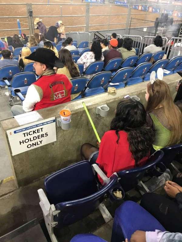 NRG Stadium, sección: 123, fila: A, asiento: 19