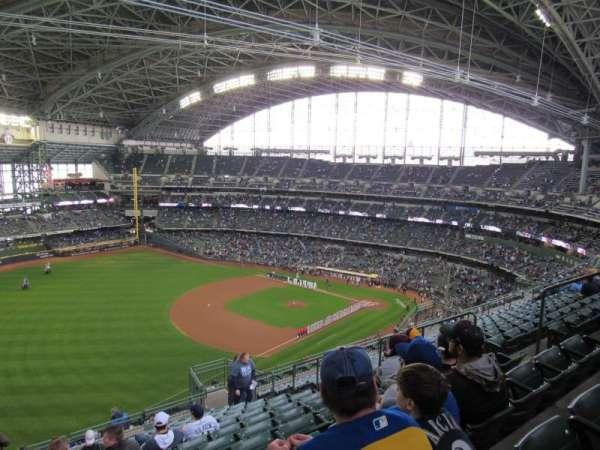 Miller Park, sección: 434, fila: 20, asiento: 10
