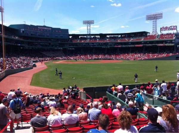 Fenway Park, sección: Right Field box 87, fila: Rr, asiento: 8