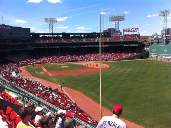 Fenway Park, sección: Right Field Roof Deck Box 39, fila: D, asiento: 8