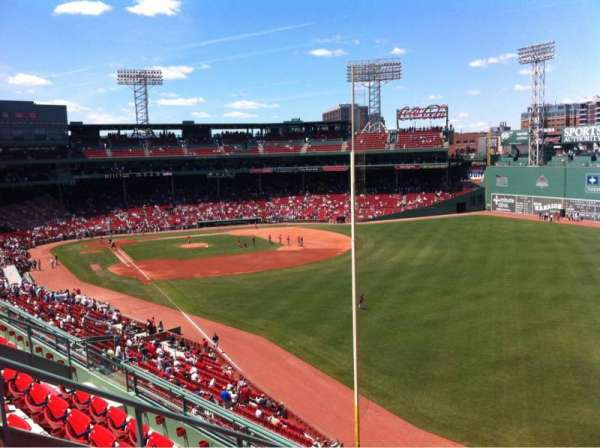 Fenway Park, sección: Right Field Roof Deck Box 37, fila: E, asiento: 1