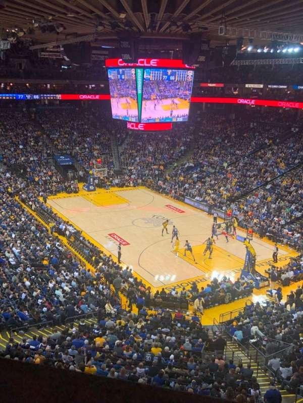 Oracle Arena, sección: 212, fila: 1, asiento: 3