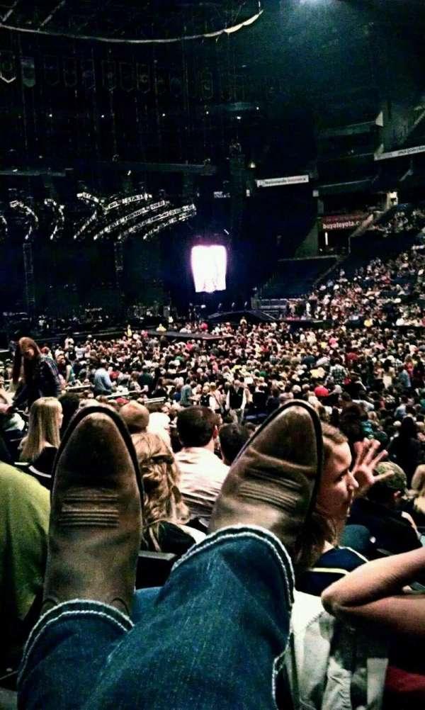 Nationwide Arena, sección: 112, fila: N, asiento: 6