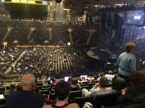 Madison Square Garden, sección: 212, fila: 8, asiento: 2